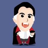 Charakter Hrabiowski Dracula Zdjęcie Stock