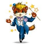 Charakter ilustraci kot Zdjęcie Royalty Free