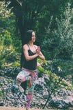 charakter kobiety do jogi obrazy stock