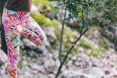 charakter kobiety do jogi zdjęcia stock