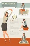 Charakter kreskówka ustawiająca bizneswoman Zdjęcia Royalty Free