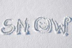 charakter pisma zimno Zdjęcie Royalty Free