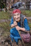 Charakter Rosyjska ludowa bajki baba Yaga Zdjęcia Royalty Free
