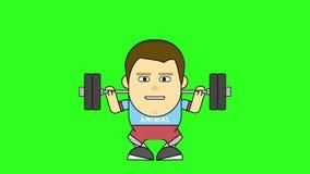 Charakter w szkoleniu 2D animacja w mieszkanie stylu z zieleń ekranem Animacja dla szerokiego zakresu wyjaśniać zdjęcie wideo