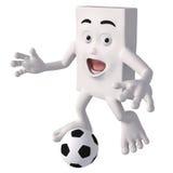 Charakter z futbolem  Zdjęcia Royalty Free