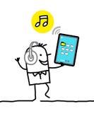Charakter z pastylką - muzyka ilustracja wektor