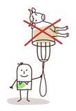Charakter z rozwidleniem - żadny mięso ilustracji