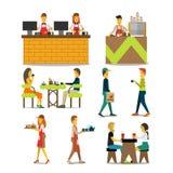 Charaktere in einem Café Lizenzfreies Stockfoto