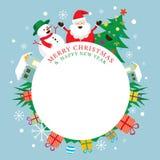 Charaktere, frohe Weihnachten und guten Rutsch ins Neue Jahr Lizenzfreie Stockfotos