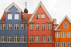 Charakteristische Kopenhagen-Häuser Lizenzfreie Stockfotos