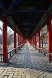 Charakteristischer Gartenbau des Chinesen, Galerie Lizenzfreies Stockbild