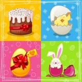 Charakterkarte fröhliche Ostern Stockfotos