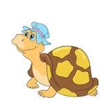 Charakteru żółwia wektoru śmieszna ilustracja Obrazy Stock
