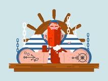 Charakteru żeglarz ilustracji