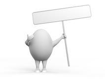 charakteru jajeczny holidng znak Obrazy Stock