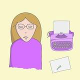 Charakteru pisarz royalty ilustracja