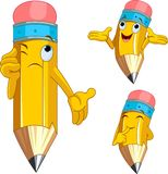 charakteru wyrażeń facial ołówek Zdjęcia Stock