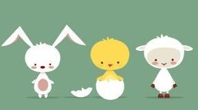 charaktery śliczny Easter Fotografia Royalty Free