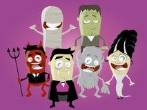 charaktery śmieszny Halloween Obrazy Royalty Free