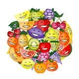 charaktery fruit śmieszny ja target1029_0_ wpólnie Zdjęcia Royalty Free