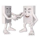 Charaktery trząść ręki Fotografia Stock