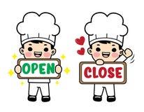 Charaktery ustawiający w szefa kuchni mundurze Vecter element ilustracji