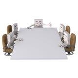 Charaktery wokoło prostokątnego stołu Zdjęcie Stock