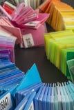 charakterystyczny kolor druku prasy przemysłu obrazu pre próbki Zdjęcia Royalty Free