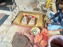 Charan paduka. Mahakali mata temple Stock Photography