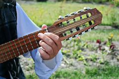 Charango - bolivian guitar. The small Bolivian ten-string guitar called Charango Stock Photography