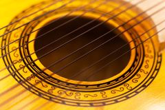 Charango hole and strings Stock Image