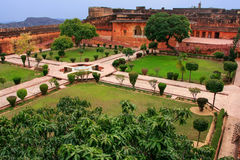 Charbagh Garden in Jaigarh Fort near Jaipur, Rajasthan, India Stock Images