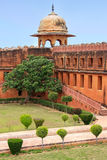 Charbagh-Garten in Jaigarh-Fort nahe Jaipur, Rajasthan, Indien Stockbilder