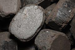 charbon appuyé Photo libre de droits