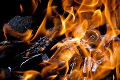 Charbon de bois chaud images stock
