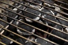 Charbon de bois chaud image libre de droits