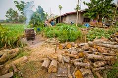 Charbon de bois fait de bois Images stock