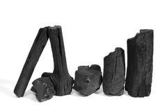 Charbon de bois noir Photo stock