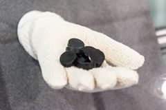 Charbon des ensembles de combustible de réacteur nucléaire Photographie stock libre de droits