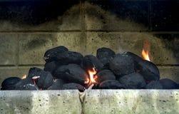 Charbon du feu de BBQ Photo libre de droits
