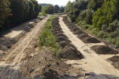 Charbon mou - autrefois autoroute A4 près de Merzenich Images stock