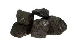 Charbon, pépites de carbone Image stock