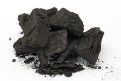 Charbon, steenkool Royalty-vrije Stock Foto