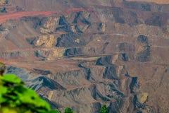 Charbonnage d'exploitation à ciel ouvert, Sangatta, Indonésie photographie stock libre de droits