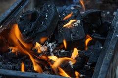 Charbons brûlants Images libres de droits