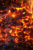 Charbons chauds images libres de droits