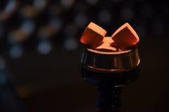 Charbons chauds de narguilé pour le tabagisme Photo stock