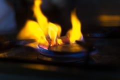 Charbons de narguilé de Floaming Images stock