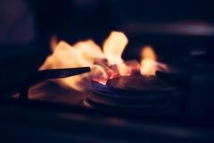 Charbons de narguilé de Floaming Images libres de droits