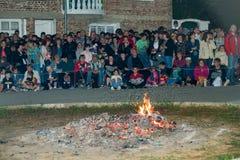 Charbons fondus aux jeux de Nestinar dans le village de Bulgari, Bulgarie Photo libre de droits